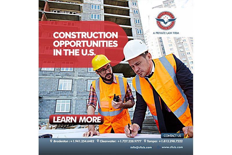 CONSTRUCTION OPPORTUNITIES IN THE U.S.  CONSTRUCTION OPPORTUNITIES IN THE U.S. Untitled 2 [object object] Immigration News Untitled 2